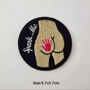 Accessories - Funny Spank Me Iron On Embroidered Patch
